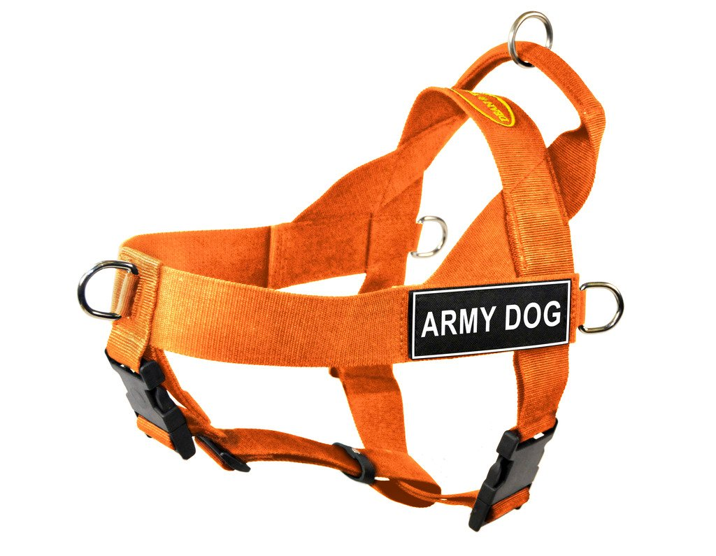 orange L orange L Dean & Tyler DT Universal No Pull Dog Harness with Army Dog Patches, Large, orange