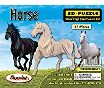 3-D Wooden Puzzle - Small Horse -Affordable Gift for your Little One! Item #DCHI-WPZ-E023A