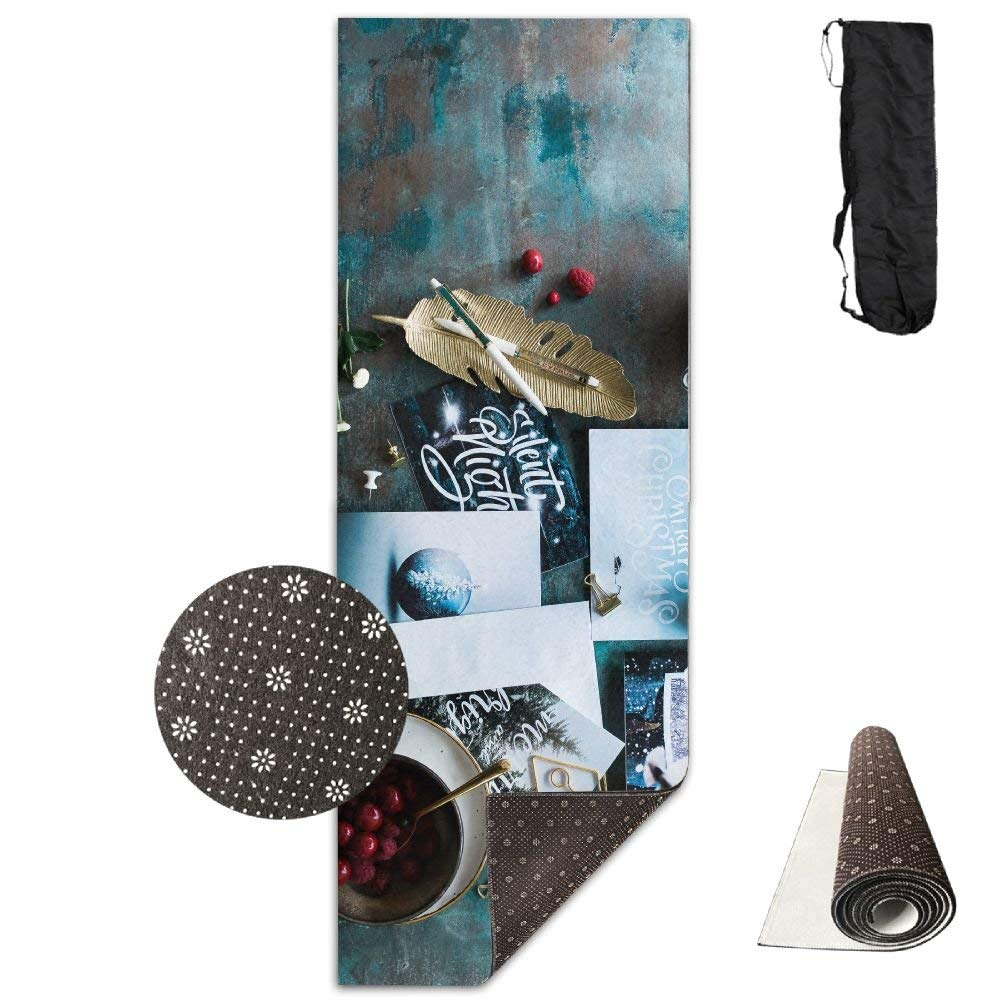 Postcards Christmas Berries Tea Party ECO Aqua Power Kinematic Iyengar Kundini Hot Pilates Gymnastics Hatha Yoga Mat and Other Mats That Need to Be Performed On The Ground