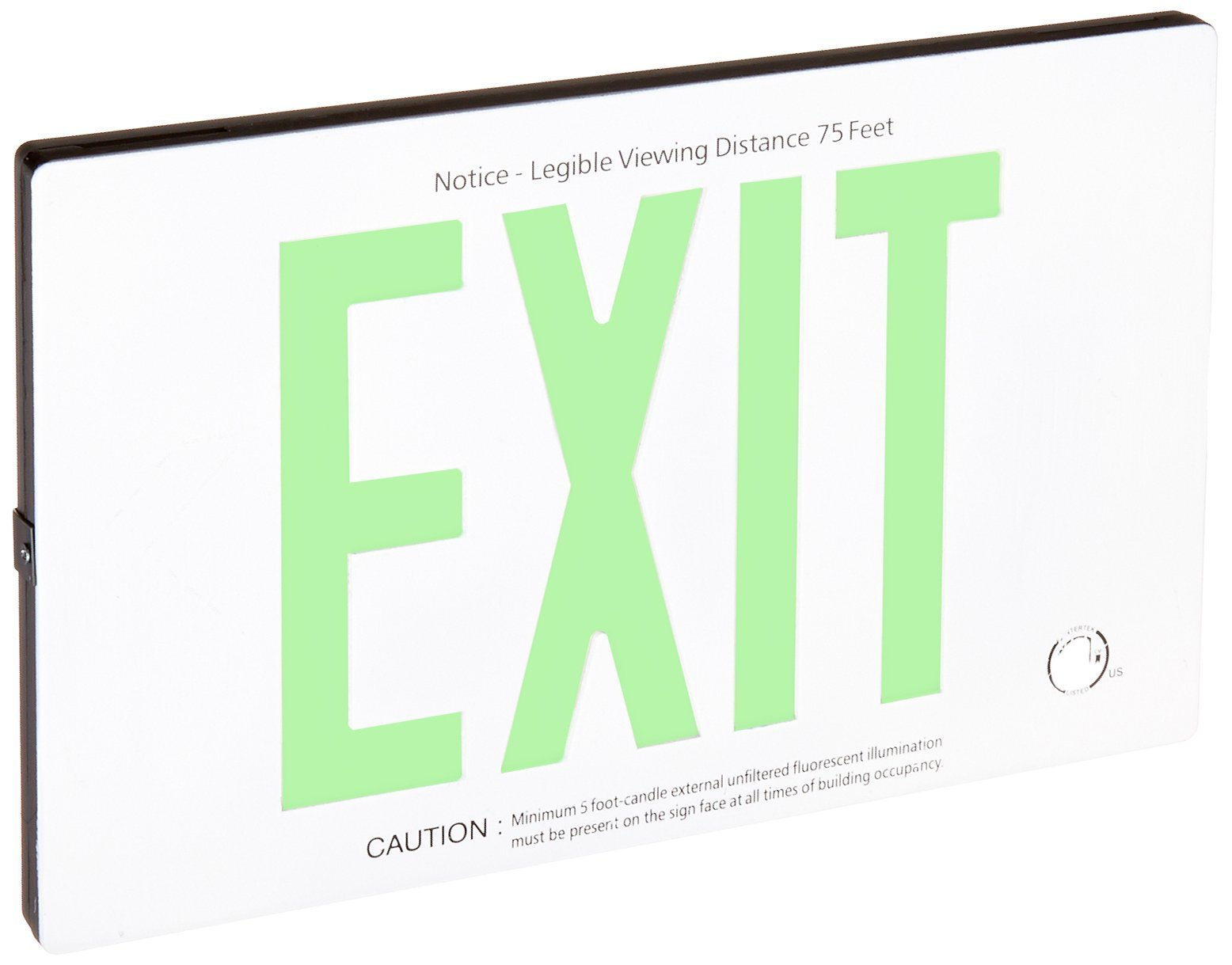 Royal Pacific RXL25WH Self Luminescent Exit Sign Case, White