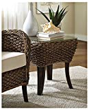 Panama Jack Sunrooms Sanibel End Table with Glass,
