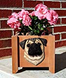 Pug Planter Flower Pot Fawn For Sale