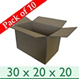 f6d507e153e 10 x Strong Packing Storage Removal Cartons - Double Wall Cardboard ...