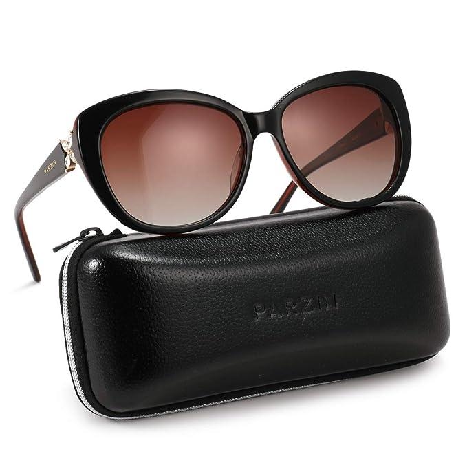 d5a323419 Amazon.com: Polarized Cateye Sunglasses for Women Butterfly Diamond ...