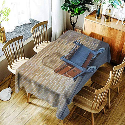 XXANS Washable Tablecloth,Wizard,Secret Way to The Train to Magical World Kings Cross Station Famous Landmark Picture,Dinner Picnic Table Cloth Home Decoration,W60X90L Brown -