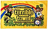 NFL Pittsburgh Steelers Leprechaun Terrible Towel, 24-inch by 15-inch, Black and Gold