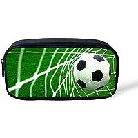 Hugs Idée de football Imprimé Trousse Sac de stylo papeterie Sac pour l'école 22x4.5x11CM Football1
