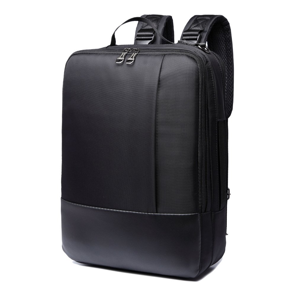 14/15.6 inch Multi-function Convertible Laptop Messenger Computer Bag Single-shoulder Backpack Briefcase Oxford and PU Leather Waterproof Multi-Compartment For iPad Pro Macbook Men and Women