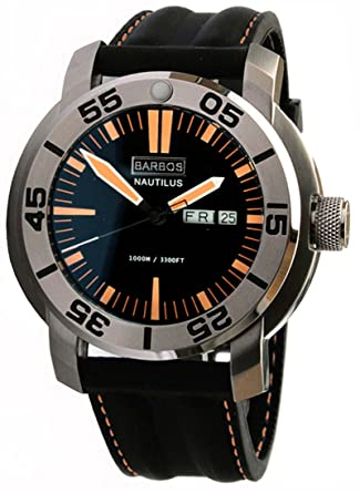 barbos nautilus 1000m 3300ft mens diver watch amazon co uk watches barbos nautilus 1000m 3300ft mens diver watch