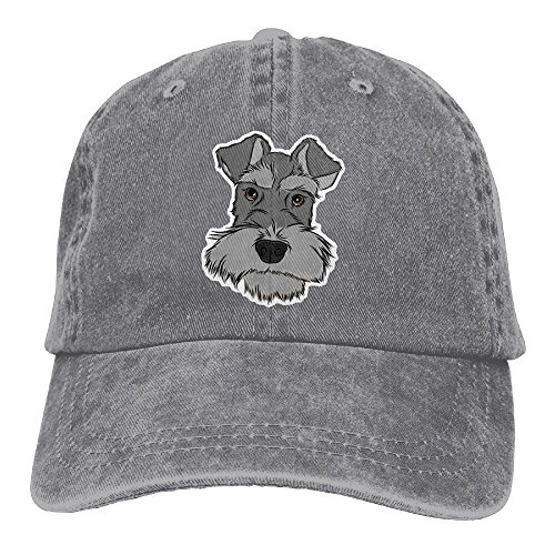 Baseball Cap Adorable Schnauzer - Adjustable Trucker Hat Cotton Denim, DanLive Adorable Schnauzer ()