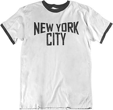 New York City Mens Ringer T-Shirt Camiseta para Hombre Retro Style ...