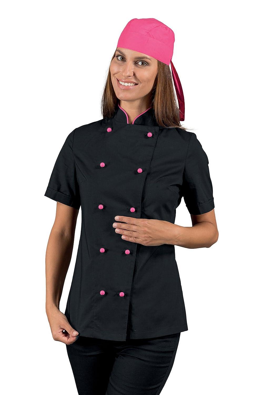 S Mezza Manica 65/% Poliestere 35/% Cotone Bianco Isacco Giacca Lady Chef Bianco 150 gr//m/²
