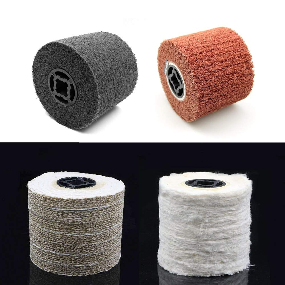 Maslin 1 piece 12010019mm Unitized & Non-woven & Sisal & Spiral Sewn Cotton Polishing Buffing Wheel for Metal Finishing - (Color: Sisal)
