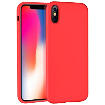 coque iphone x rouge mat