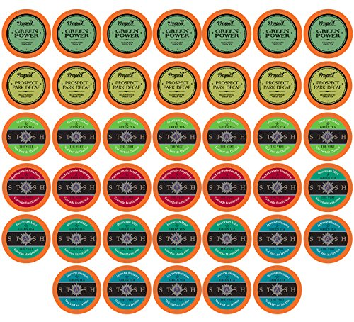 Two Rivers Go Green Tea Single-Cup Sampler Packfor Keurig K-Cup Brewers, 40 (Go Pod Brewer)