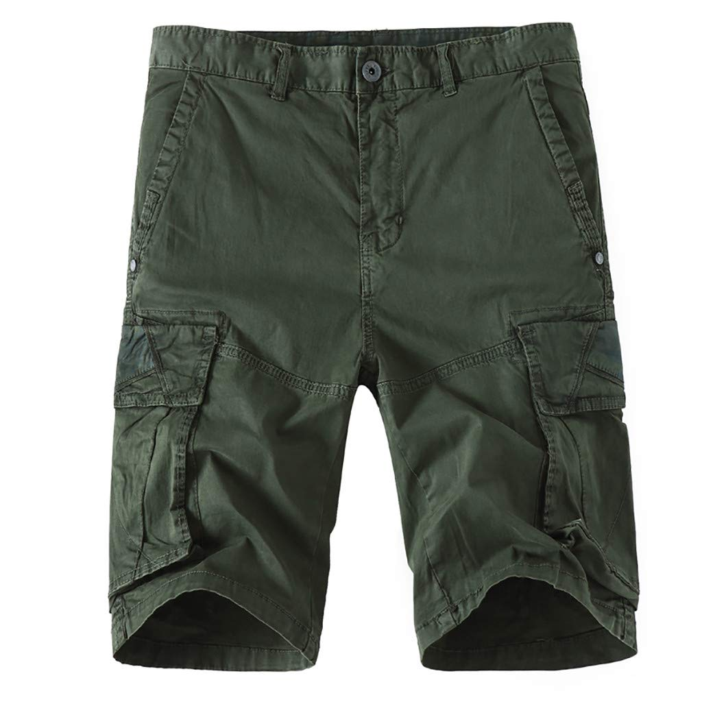 YenMY Shorts Mens Cool Summer Hot Leisure Pants Multi-Pocket Overalls Shorts