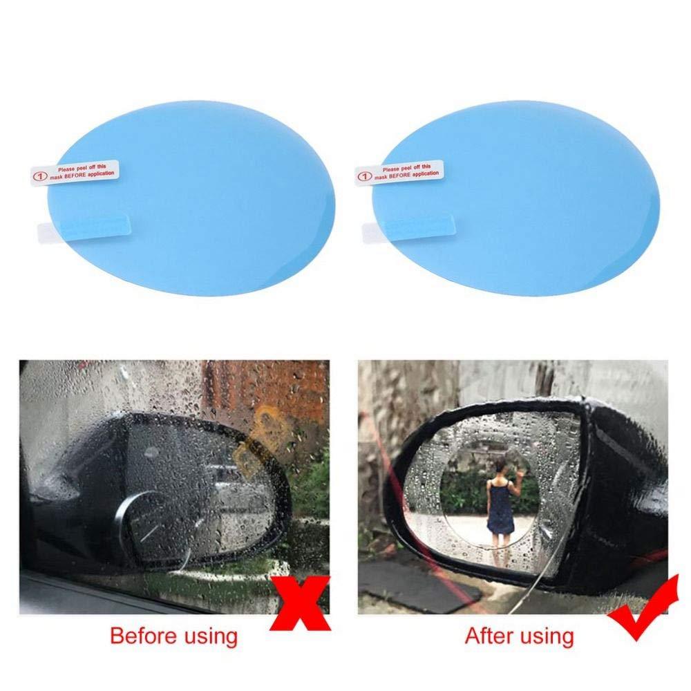 TOOGOO 2pcs Motorcycle Car Side Rear View Mirror Protective Film Anti Fog Rainproof Rear View Mirror Window Clear Waterproof Membrane by TOOGOO (Image #2)