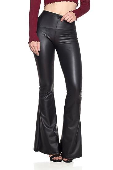e96124118c5 Cemi Ceri Women s J2 Love Faux Leather Bell Botom Flare Pants at ...