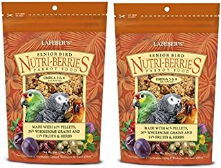 product image for (2 Pack) Lafebers Senior Bird Nutri-Berries Bird Treat And Parrot Food