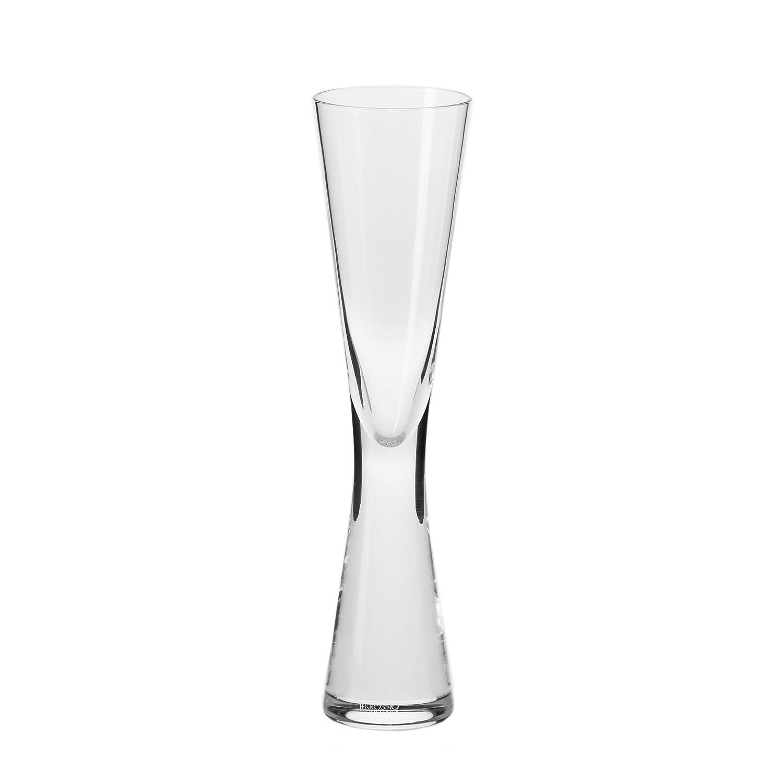 Household Essentials KROSNO Handmade Kai Champagne Flute (Set of 4), 4 oz, Clear K773-1