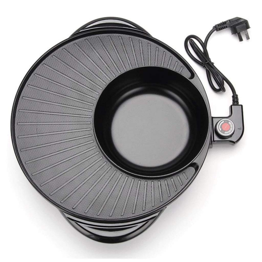 WSJTT Large Multi Cooker   Electric Frying Pan with Glass Lid,44cm Non-Stick Surface and Cool Touch Handles   Cooker Pot Electric Hot Pot Electric Barbecue Electric Baking Pan 1500W by WSJTT (Image #4)