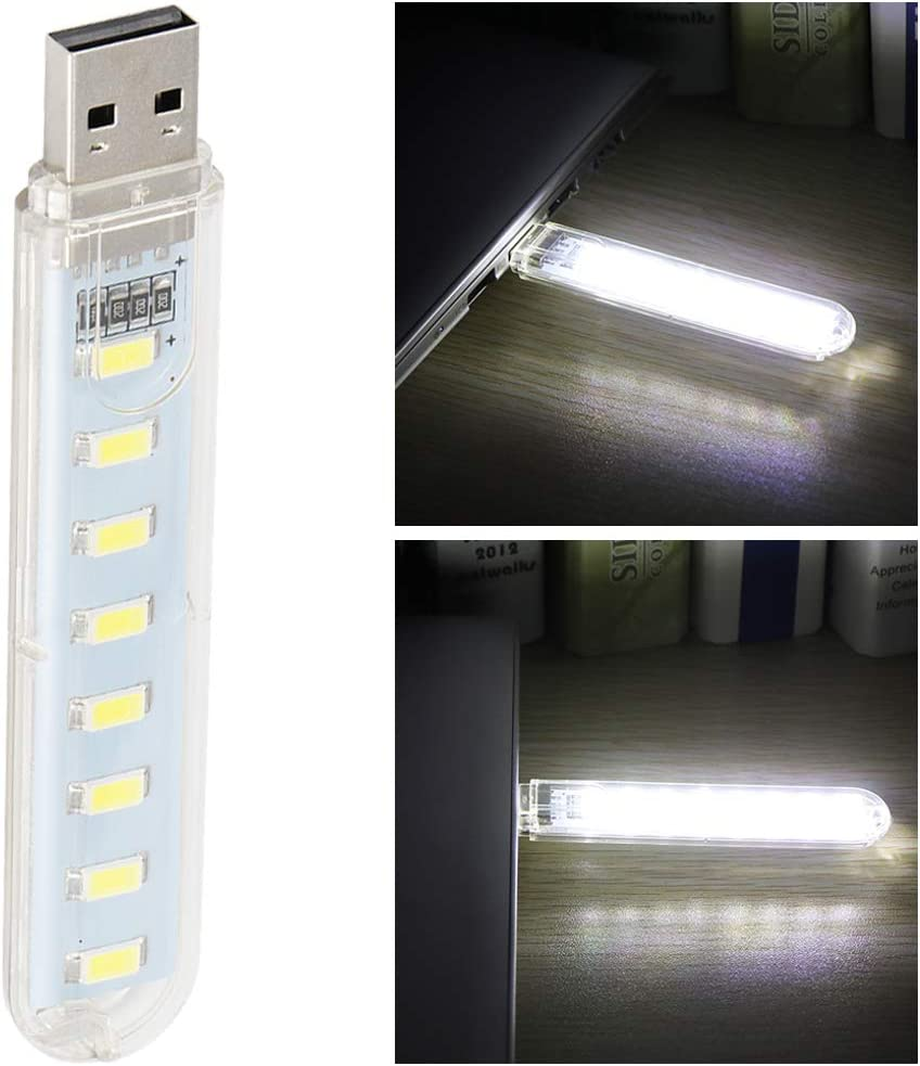OurLeeme 8 LED SMD 5730 LED USB Lampe Ampoule Mini USB Portable Nuit Lecture Lampe pour Ordinateur Portable Portable