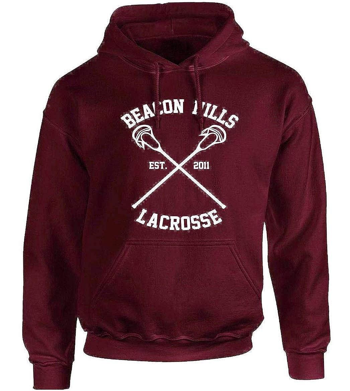 24 Stilinski, 14 Lahey, 11 McCall mimoma Felpa con Cappuccio della Squadra Lacrosse Beacon Hills