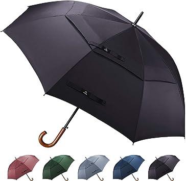 Amazon.com: Prospo - Paraguas de madera con mango de madera ...