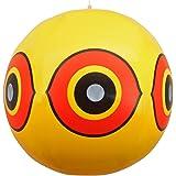 Sistema repellente antiuccelli - palloni gonfiabili con occhio minaccioso - giallo - 3 pezzi