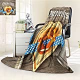 AmaPark Digital Printing Blanket Beer Festival Cutlery Ribbon and Cutting Board on Restaurant Table Summer Quilt Comforter