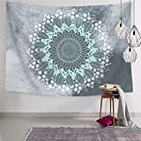 PANDAYAQ Tapestry Mandala Hippie Bohemian Tapestries Wall Hanging Flower Psychedelic Tapestry Wall Hanging Indian Dorm Decor Living Room Bedroom