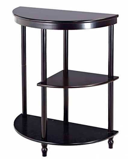 Frenchi Furniture Cherry 3 Tier Crescent ,Half Moon ,Hall / Console Table/