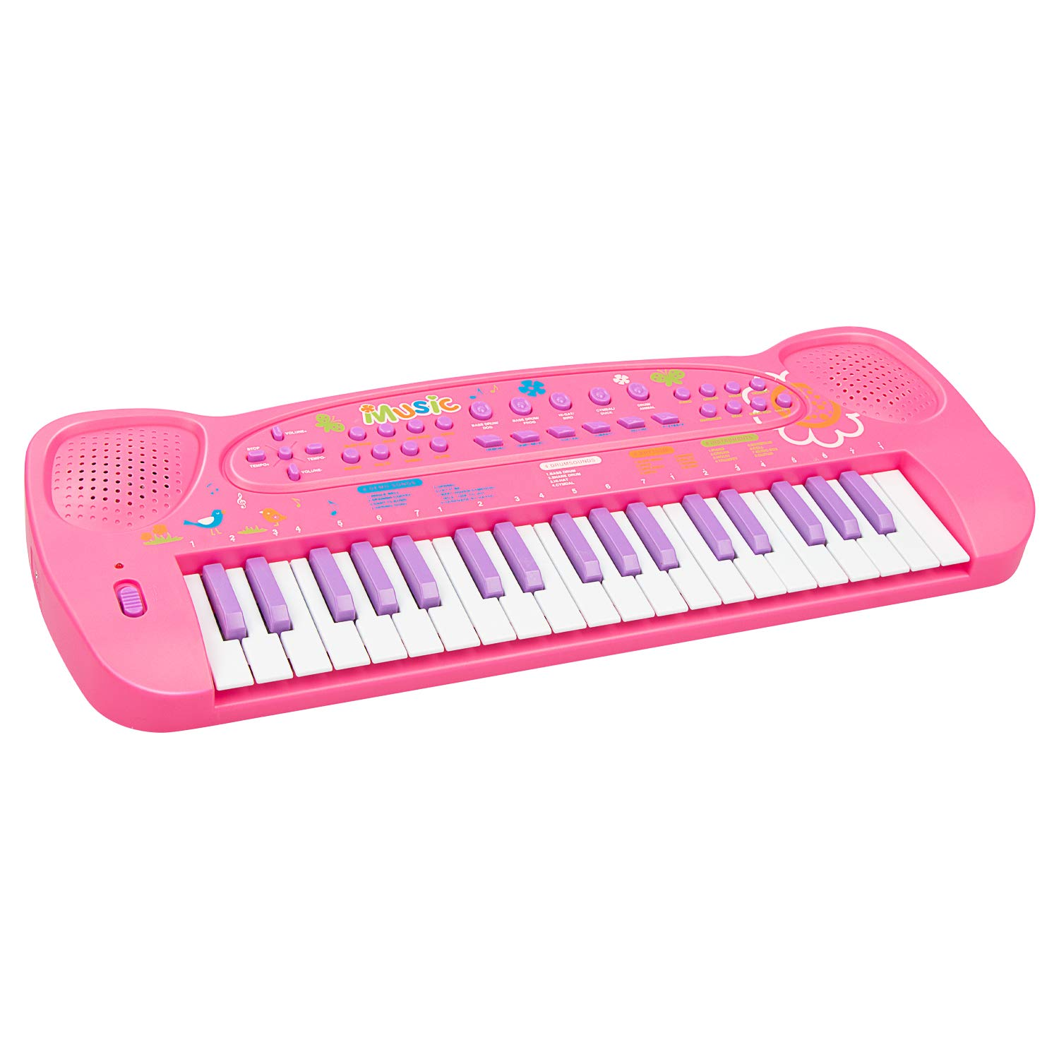 aPerfectLife 37 Keys Piano Keyboard for Kids Multifunction Portable Piano Electronic Keyboard Music Instrument for Kids Early Learning Educational Toy for 3-10 Year Old Girls Boys (Pink)