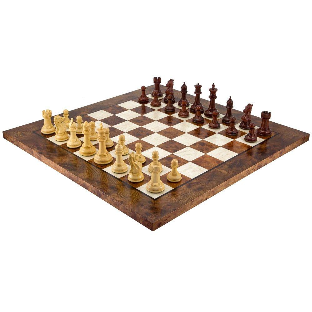 Die Madrid Rot Sandelholz und Briar Luxus Schachspiel