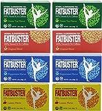 Fatbuster Herbal Slenderizing Tea Variety Pack 8 ( 4 Flavor: Lemon , Green Tea,Original Blend, Peppermint 2 Each) - Weight Loss Diet Tea, 24-Count Tea Bags (Pack of 8)