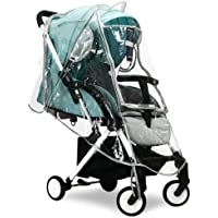 ZARPMA Universal Rain Cover for Pushchair/Stroller/Buggy/Pram,Soft,Easy to fold,Protects Baby from Windy and Rain