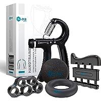 N-PIR Premium handtrainer, 5-delige set, verschillende gewichtsniveaus, perfect voor grip, onderarm en vingertraining…