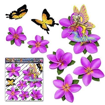 Amazon small fairy fantasy frangipani plumeria pink flower small fairy fantasy frangipani plumeria pink flower butterfly animal decal car stickers st00062pksml mightylinksfo
