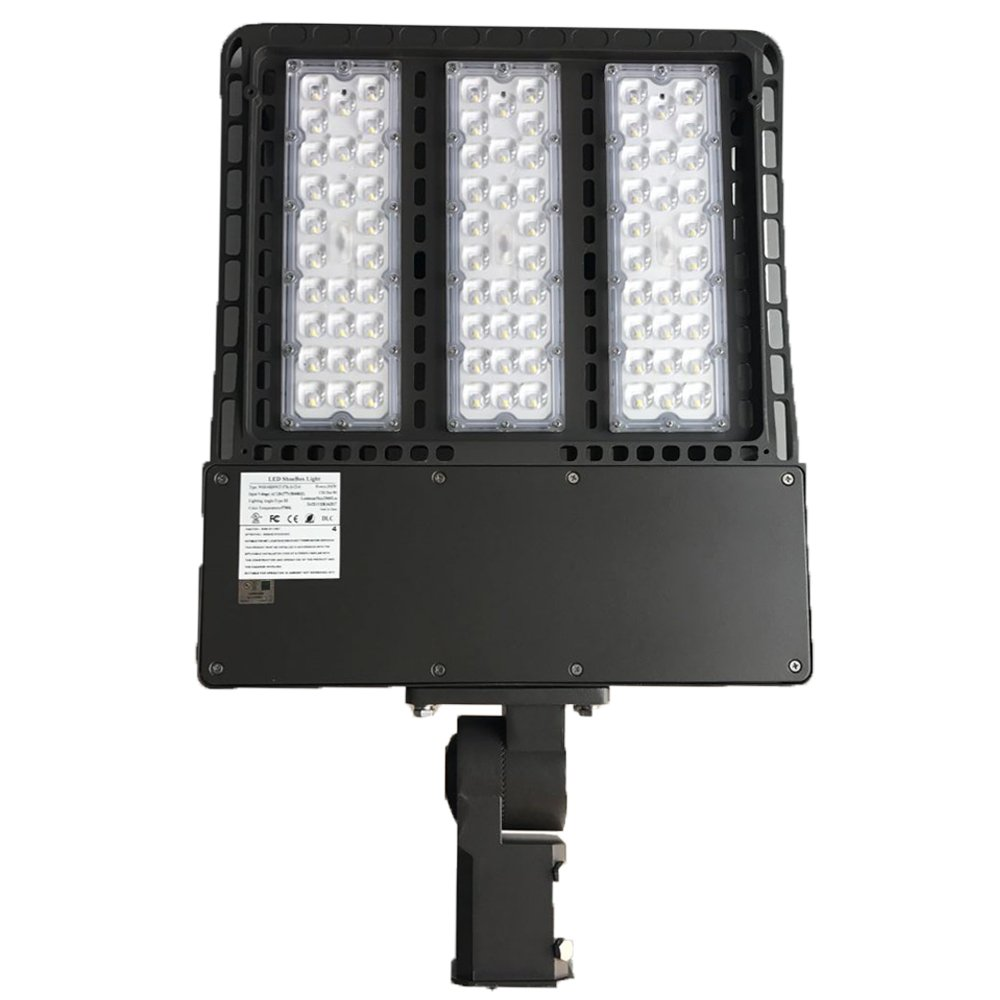 1000LED LED Shoebox Pole Light 300W 33,600Lm (1000W HID/HPS Equal) Daylight White 5000K AC 347-480V 5 Years Warranty Waterproof IP65 UL DLC Listed for Outdoor Packing Lot Street Area Light