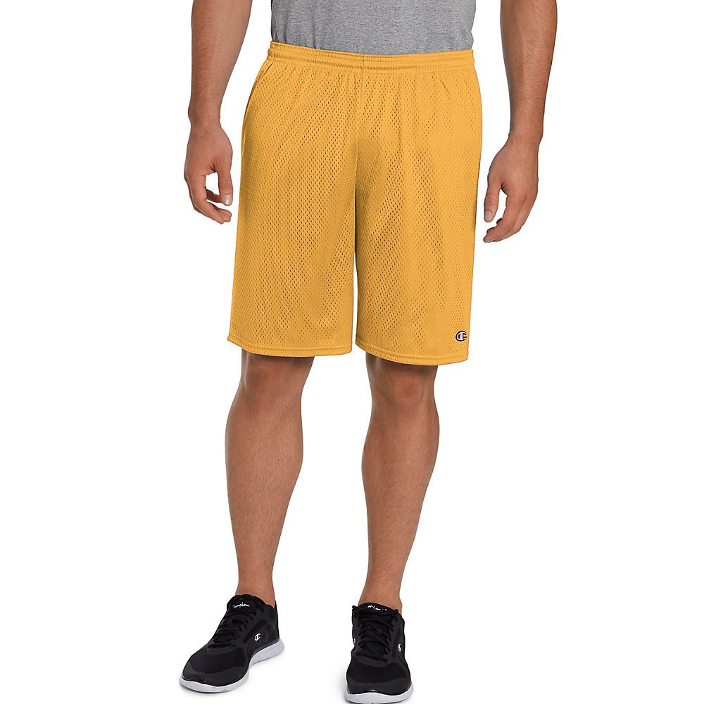 Champion Men's Long Mesh Short With Pockets, Sun