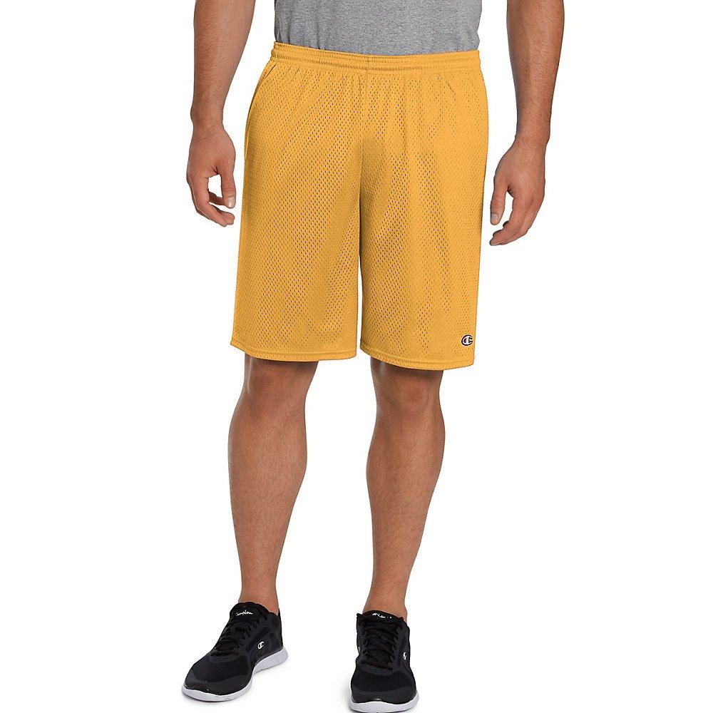 Champion Men's Long Mesh Short With Pockets, Sun