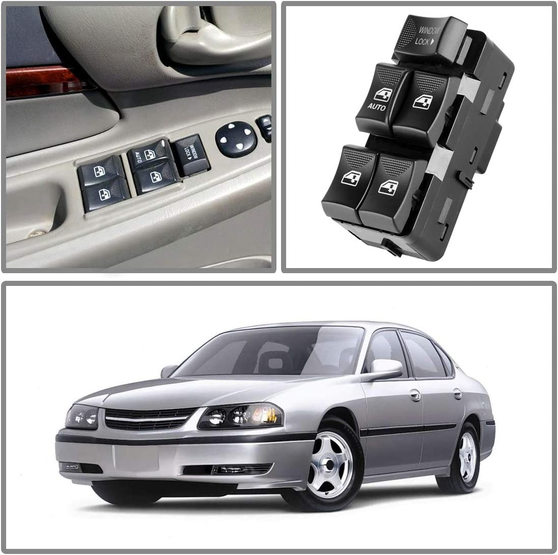 Power Window Switch Master Control Compatible with 2000-2005 Chevy Chevrolet Impala 2002-2003 Buick Rendezvous 10283834 10422427 10413253