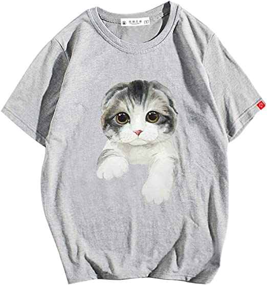 H.ZHOU Camisetas para Hombre 100% algodón TY-043 Verano 3D ...