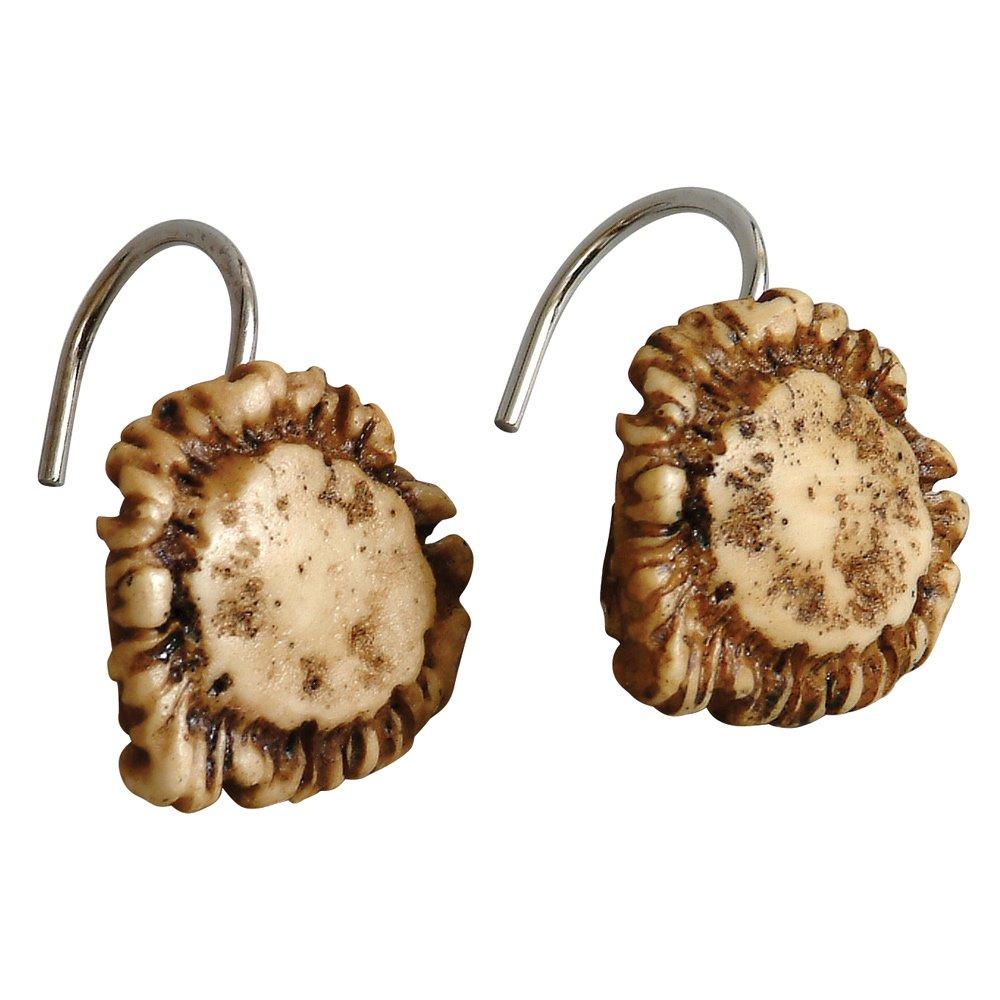 Black Forest Décor Antler Shower Curtain Hooks - Set of 12