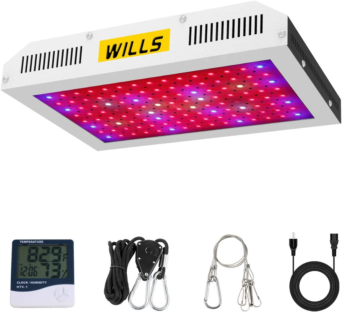 LED Grow Lights, WILLS Upgraded 1200W Plant Growing Light Full Spectrum with Veg and Bloom Switches for Indoor Hydroponic Greenhouse Growing 10W LEDs 120Pcs