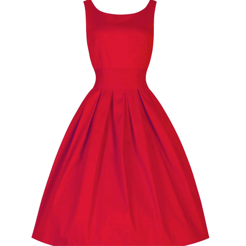 Robin Santiago 2017 Summer Women Dress Summer 50S 60S Vintage Dresses Vestidos Plus Size Rockabilly Party Dress at Amazon Womens Clothing store: