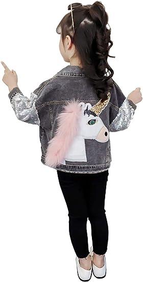 chaqueta vaquera ni/ña unicornio