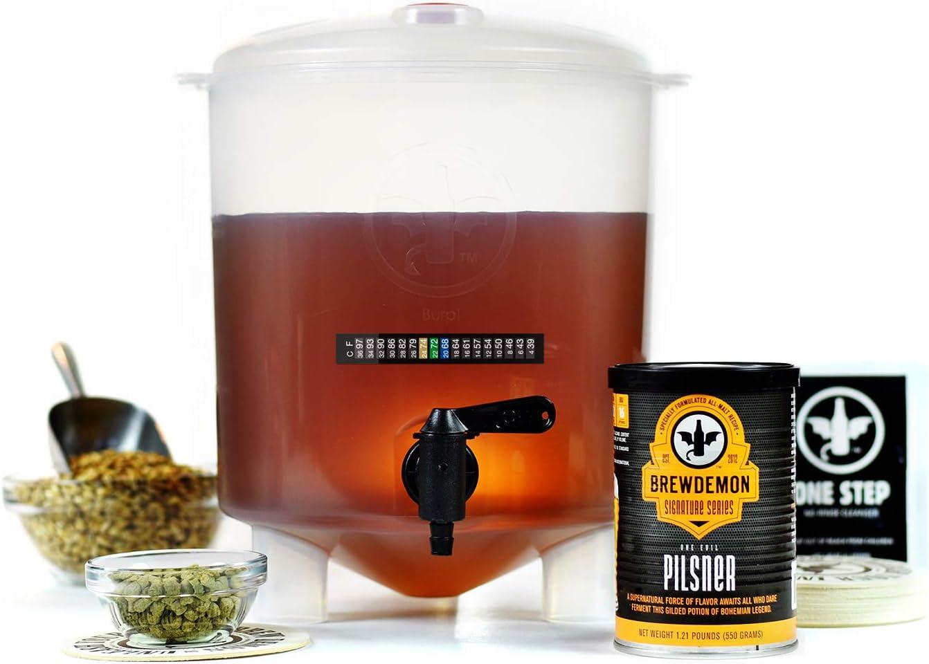 BrewDemon kit para hacer cerveza de 1 galón One Evil Pilsner