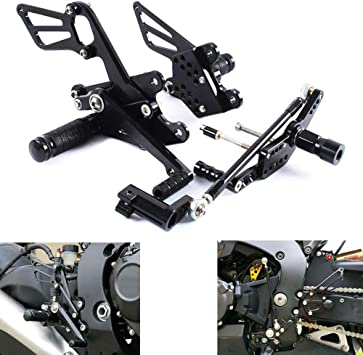 FXCNC Racing 08-16 CBR1000RR Adjustable Motorcycle Rearset Foot Pegs Rear Set Footrests Fit For Honda CBR1000RR ABS NON-ABS 2008 2009 2010 2011 2012 2013 2014 2015 2016 2017