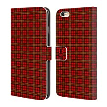 Head Case Designs Red Green Plaid - Pattern Collection Leather Book Wallet Case Cover For Apple iPhone 5 / 5s / SE